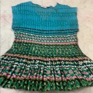 Cato Crinkle Vivid Color Top